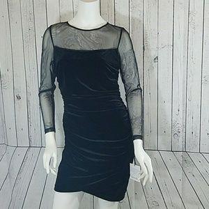 Calvin Klein Black Velvet Dress 8